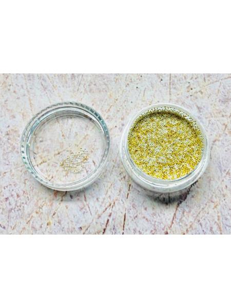 "Бульонки для дизайна ногтей баночка ""Gold+Silver"" 0,4мм. (металл) 5 грамм."