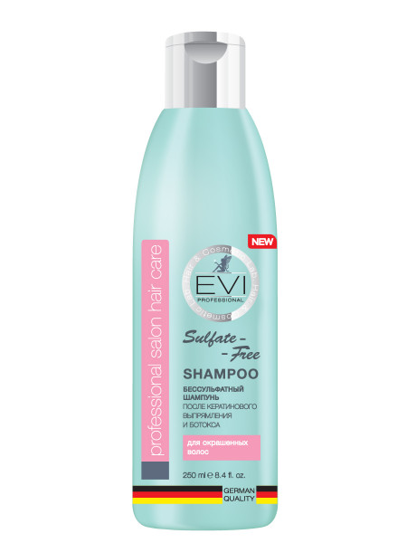 «EVI» Professional Шампунь  бессульфатный для окрашенных волос. 250 мл