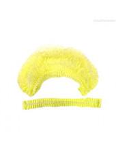 Шапочка-клип спанбонд жёлтая White line 50 шт.