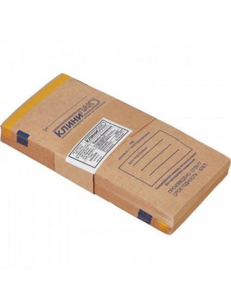 "Пакеты бумажные самоклеящиеся ""Клинипак"" 100х250 (крафт, 100шт.)"
